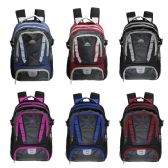 "18"" Wholesale Backpack with Laptop Sleeve in 6 Assorted Color Variations"