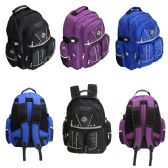 "18"" Padded Backpack in 3 Assorted Colors"
