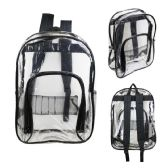 "17"" Kids Clear Backpacks with Black Trim"