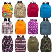 "17"" Kids Classic Padded Backpacks in 9 Assorted Unique Prints"