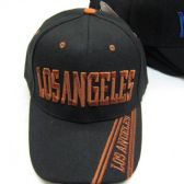 """Los Angeles"" Base Ball Cap With Los Angeles In Stripes"