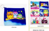 Wholesale Coin purse with Zipper assorted Owl design