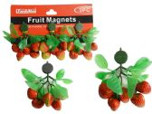FRUIT MAGNETS 3PC STRAWBERRY PACKING