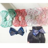 Girls Floral Assorted Colored Hair Clip