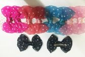 Girls Polka Dot Assorted Colored Hair Clip