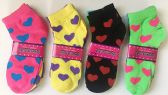 "Woman Short Socks""Heart""/Color Assorted"