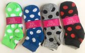 Women dot short socks/color assorted