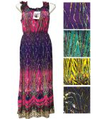 Lady's Wave Summer Dress/color size assorted
