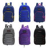 "19"" Wholesale Bungee Face Backpack in 6 Assorted Colors"