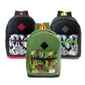 "17"" Wholesale Kids Backpacks in Black and Camo Design Prints"