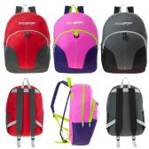 "17"" Wholesale Kids Sport Backpacks in 3 Assorted Colors - Case of 24"