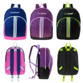 "17"" Wholesale Kids Sport Backpacks in 3 Assorted Colors"