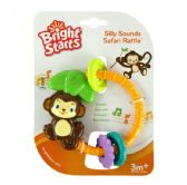 Bright Starts Silly Sounds Safari Rattle Baby Toy, 3m+