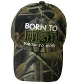 Born To Fish Baseball Cap Color Assorted