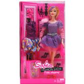 """12"""" BENDABLE SOFIA DOLL W/ ACCSS IN WINDOW BOX, 2 ASSRT"""