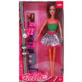 """11.5"""" BENDABLE BELLA DOLL W/ ACCSS IN WINDOW BOX, 2 ASSRT"""
