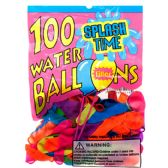 ASSORTED WATER BALLOON WITH FILLER IN PEGABLE PP BAG
