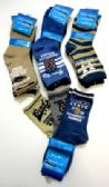 Boys printed crew socks, size 6 years to 8 years, assorted styles