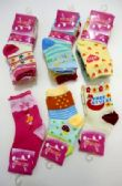Girls printed crew socks, size 2 years to 4 years, assorted styles