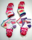 "Girls ""sweet heart"" quarter socks, size 4 years to 6 years, assorted styles"