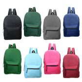 """17"""" Kids Backpacks in 8 Assorted Colors"""