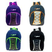 """17"""" Bungee Cord Lace Up Backpack in 4 Assorted Colors"""