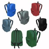 """17"""" Kids Basic Backpacks In 6 Assorted Colors"""