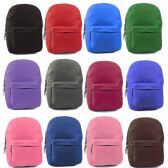 """17"""" Classic Kids Backpacks in 12 Assorted Colors"""