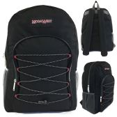 "19"" Black Bungee Design Backpack"