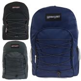 "19"" Bungee Design Backpacks in 4 Assorted Colors"