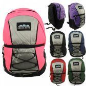"""17"""" Kids Padded Bungee Design Backpacks in 6 Assorted Multi-color Colors"""