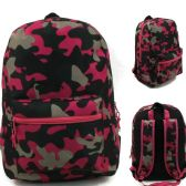 """17"""" Kids Classic Padded Backpacks in PINK CAMOUFLAGE Print"""