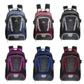"18"" Backpack with Laptop Sleeve in 6 Assorted Color Variations"
