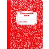 Red Composition Notebook - 100 Sheets