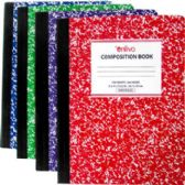 Premium Wide Ruled Composition Notebook - Assorted