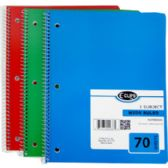 1 Subject Wide Ruled Wire Notebook in Assorted Colors