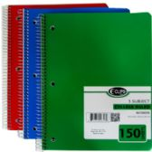 5 Subject College Ruled Wire Notebook