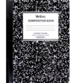 Premium Black Composition Notebook - Wide Ruled