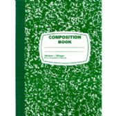 Green Composition Notebook - 100 Sheets