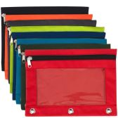 3 Ring Binder Pencil Case with Window - 8 Color Assortment