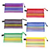 Kids Colored Acrylic Pencil Case in 6 Assorted Colors - School Supplies