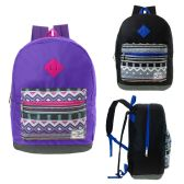 "17"" Kids Backpacks in Purple and Black Colors"