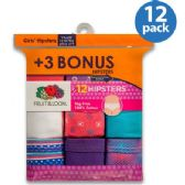 Fruit Of The Loom 12 Pack Hipster Cut Underwear Size 4