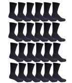 Men's Black Cotton Crew Sock Size 10-13 - Mens Crew Socks