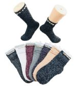 Ladies Fashion Socks Pearls & Beads Sparkle