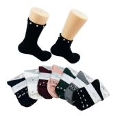 Ladies Fashion Socks Pave Disco Beads