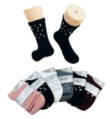 Ladies Fashion Socks Mirrored Gems