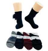 Ladies Fashion Socks Fur Ball