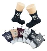 Ladies Fashion Socks Flower Gems Sparkle