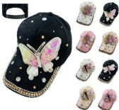 Ladies Bling Hat with Sequin Butterfly Dragonfly